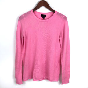 J. Crew Collection PInk Cashmere Crew Neck Sweater